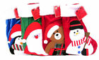 CHRISTMAS STOCKING 4 DESIGNS AND COLOURS- 49B067
