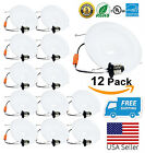 "Downlight LED 12 Pack Baffle Trim Recessed  Retrofit  5"" / 6""  Bulb Down Light"