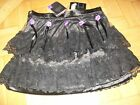 LADIES SINISTER GOTHIC GOTH PUNK BLACK LACE MINI SKIRT PARTY XL -32W BARGAIN