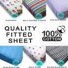 Polka Dots Pink Blue Fitted Kids' Sheet 1000,Animals Kitty Striped Spotted Cott