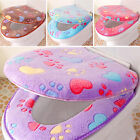 Winter Bathroom Decor Washable Toilet Seat Cover Mat+Lid Cover Pads Set 2PCS