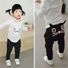 Toddler Kids Baby Boys Girls Cartooon Cat Bottom Harem Pants Leggings Trousers