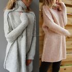 Autumn Women Long Sleeve Oversized Loose Knitted Sweater Jumper Cardigan CaF8