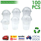 16oz/20oz/24oz Cold Drink Cup with Dome Lid, Clear Plastic, Disposable