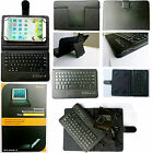 For Samsung ipad Tablet PortFolio Cover Leather Case Bluetooth Wireless Keyboard