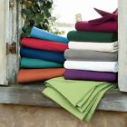 US King Size All Solid Bedding Items 1000TC 100%Egyptian Cotton Select Item image