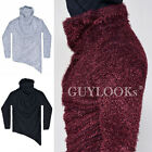 Toasty Faux Fur Yetti Mens Unbalance Cut Slim Fit Turtle Neck Tee By Guylook