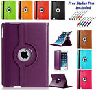 "360 Rotating Leather Smart Case Cover Holder For Apple iPad PRO 12.9"" INCHES UK"