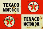 Texaco Old Rusted Look Tin Sign Plaque. great for Garage workshop, Mancaves etc