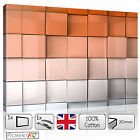 LARGE ORANGE WHITE ABSTRACT CUBES MODER CANVAS WALL ART FRAMED PRINTS PICTURES