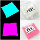 Glow In The Dark Powder AQUA/PINK Resin Strontium Aluminate Pigment Powder USA