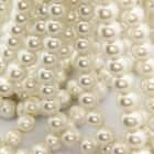 Lots White Glass Pearl Round Loose Spacer Bead Bracelet Jewelry Making 6/8/10mm