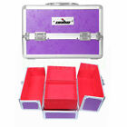 Vanity Makeup Case Cosmetic Train Box + Lighted Hollywood Makeup Mirror Dimmer