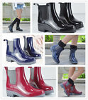 Women's Rain Boots Rubber Elastic Waterproof Short Garden Snow Ankle Boots