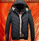 hot new mens cotton blended hooded thick winter warm parka Jacket outwear coats
