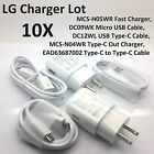 New OEM LG Lot Fast Chargers Micro & Type-C Cables G3 G4 G5 V10 V20 Pixel 5X 6P