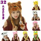 New Cartoon Animal Hat Winter Hat Fluffy Plush Hat Warm Cap Earmuff Gift Unisex