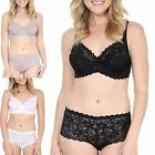 Womens Ladies Underwired See Through Lace Beach Bra Brief Underwear Lingerie Set