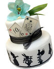 Alice in Wonderland Borders  & Playing card set Edible Playing cards Cake topper