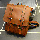 Women Girls Vintage PU Leather Shoulders Square Bag Backpack Travel Satchel Bags