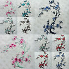 DIY Plum Blossom Flower Applique Embroidered Patches Iron Sew On Clothes Badge