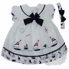 baby girl dress set with headband diaperwear outfit size 3 6 9 12 18 24 months