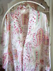 shabby*WOMENS DRESSING GOWN bohemian chic 'baroque' paisley cotton SUMMER