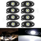 8X CREE LED Rock Lights 4x4 Off-Road Truck Trail ATV White/Red/Blue/Green/Amber