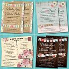 Personalised Wedding Day Evening Invitations with Envelopes - Vintage