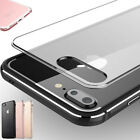 Clear Hard Plastic Back Aluminum Metallic Bumper Case Cover for iPhone 7/6S Plus