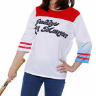 Adult Ladies Harley Quinn Cosplay T-shirt Suicide Squad Fan Mde Outfit Costume