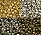 Wholesale Metal Round Spacer Beads Jewelry Craft DIY 2mm 3mm 4mm 5mm 6mm B83B