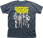 Support Our Troops Stormtrooper Rebel STAR WARS inspired charcoal t-shirt FN9338 $15.35 USD on eBay