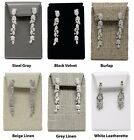 """Novel Box™ Leaning Drop Earring Jewelry Display Stand (Pack of 3) 3.5X2.5"""""""