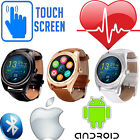 HEART RATE Activity Tracker LEATHER Bluetooth Android iPhone Phone Smart Watch