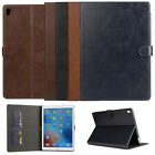 Genuine Real Leather ID Card Kickstand Case Cover For Apple iPad Pro / Air 2