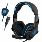 Sades SA-901 Gaming Headset Stereo 7.1 Surround Headphones w/ Mic for PC Laptop