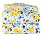 100% Cotton Flannel 4 Piece Printed Bed Sheet Sets with 2 Pillowcases 4 sizes