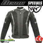 Berik Air Mesh Black White Motorcycle Mens Jacket Racing Riding