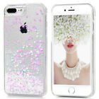 Fashion Luxury Gold Glitter Bling Soft TPU Clear Cover Case For iphone 5s 6 7 8+
