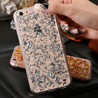 Fashion Luxury Gold Glitter Bling Soft TPU Clear Cover Case For iphone 6S 7 Plus