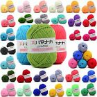 Sale 42 colors Soft Cotton Bamboo Crochet Knitting Baby Wool Yarn lot 25g skeins
