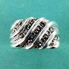 Marcasite Oxidized Sterling Ring -  -  .925 Pure Silver