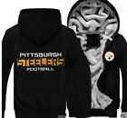 Winter Thicken Hoodies Team Pittsburgh Steeler Sweatshirt Lacer Zipper Jacket on eBay