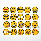 Smiley Face Emotion Embroidered Sew or Iron on Patch Badge 4.8*4.8cm