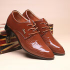 Men's Leather Shoes Pointed Lace Up Business Casual Formal Dress Classic Fashion