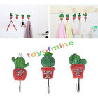 Practice Self-Adhesive Wall Hook Hanger Succulent Plants Sticky Towel Holders