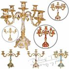 3Arms/5Arms Luxury Metal Candle Holder Crafts Candelabra For Home Wedding Decor