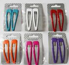 7cm HAIR SLEEPIES 1 Pr Large Hair Clips Slides Grips Pick From 6 Great COLOURS!