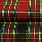 "BRUSHED ACRYLIC COAT JACKET UNIFORM CRAFT FABRIC DANDY SCOTISH TARTAN CHECK 60""W"